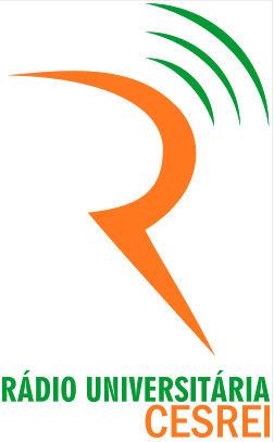 Logomarca da Rádio Universitária CESREI, criada pelos alunos de publicidade Pedro Diego e Marcus Vinícius (Fonte: Blog do curso de publicidade da CESREI).